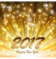 Glittering New Year glow vector