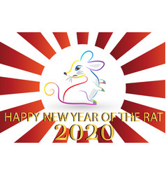 Happy new year 2020 with chinese year rat vector