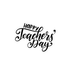 happy teachers day poster card hand vector image