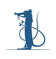 Heraldic elements rat vector image