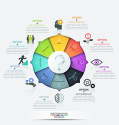 Infographics - pie chart with 8 options vector