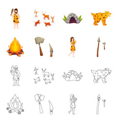 Isolated object evolution and neolithic icon vector