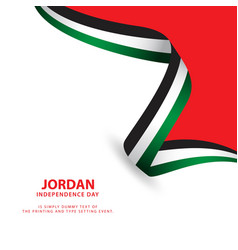Jordan independence day template design vector