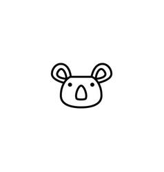 koala animal icon vector image