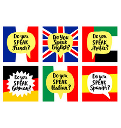 language school banners set vector image