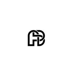 Letter a and b logo design concept vector