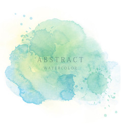 Light green abstract watercolor background vector