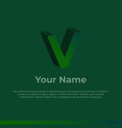 Logotype alphabet 3d logo letter v monogram logo vector