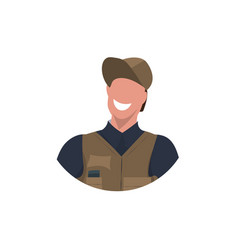 male master or repairman face avatar mechanic vector image