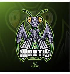 mantis sport mascot logo design vector image