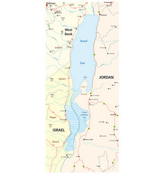 Map dead sea vector