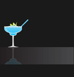 margarita blue curacao cocktail vector image