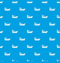 marine ship pattern seamless blue vector image