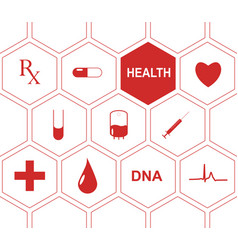 medical background with icons to treat patients vector image