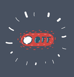 Off toggle switch buttons vector