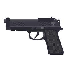 Pistol gun automatic modern handgun vector
