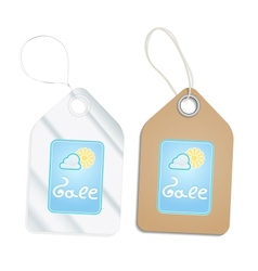 Plastic and Cardboard Tags vector image