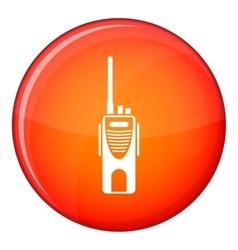 Radio transmitter icon flat style vector