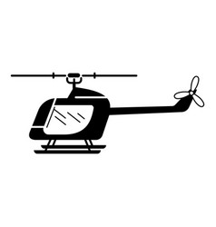 Rc helicopter icon simple style vector