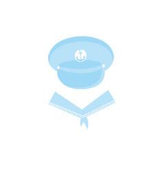 Sailor cap with an anchor captain hat vector