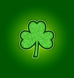 saint patricks day background with shiny green vector image