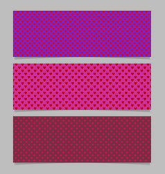 seamless heart pattern banner background template vector image