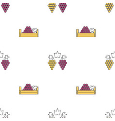 seamless pattern with grape and boxes vector image