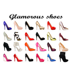set female glamorous high heel shoes vector image