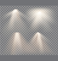 set with warm light on a transparent vector image