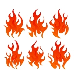 Six fire icon vector