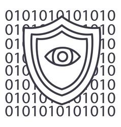 Software securityanti virus line icon vector