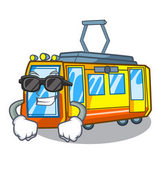 Super cool electric train isolated with the vector