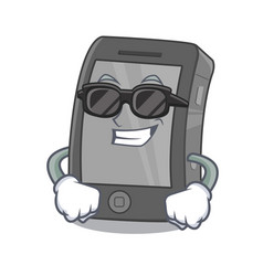 Super cool ipad isolated with in character vector