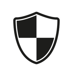 The shield icon security and safety firewall vector