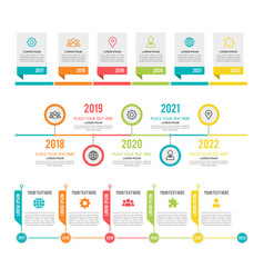 timeline workflow or process diagram option and vector image