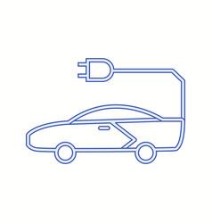 Unique car line icon vector