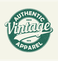 vintage auth t-shirt vector image