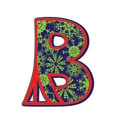 Winter letter B vector