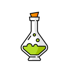 Witch potion isolated bottle with cork cap icon vector