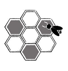 bee hive team work community concept sketch vector image