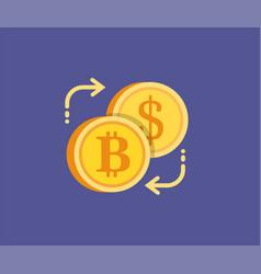bitcoin digital gold exchange concept icon vector image