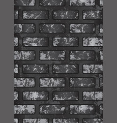 dark old black brick wall eps 10 vector image