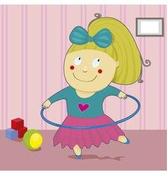 Girl with hoop vector image
