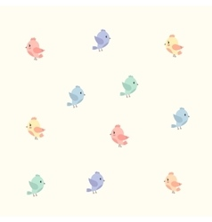 background with colourful birds vector image vector image