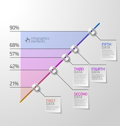 Business diagram infographics element vector image vector image