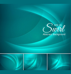 curvy abstract background aquamarine vector image