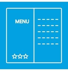 Menu thin line icon vector image