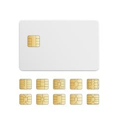 Mobile Cellular Phone Sim Card Chip Set vector image