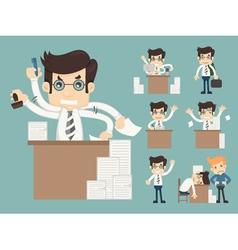 Set of office worker eps10 format vector image