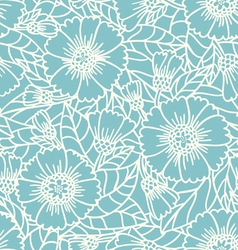 Daisy doodle pattern vector image vector image